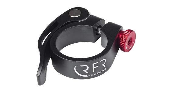 RFR attache de selle   - Collier de selle - avec attache rapide rouge/noir